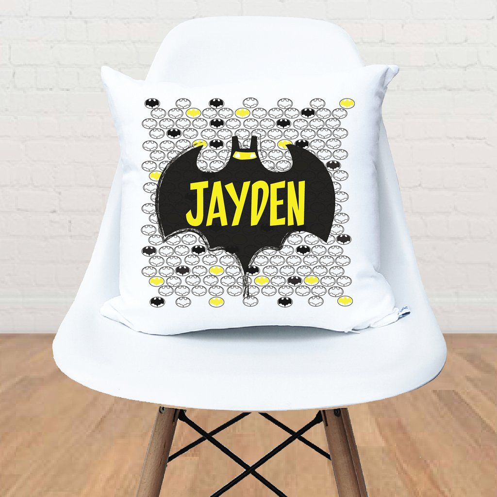 Bat Superhero Personalised Cushion