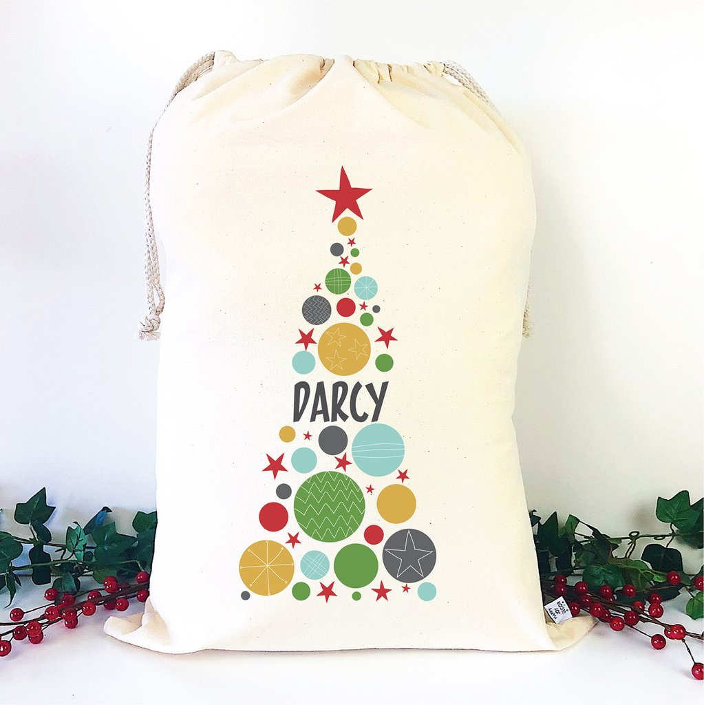 Personalised Santa Sack - Christmas Tree