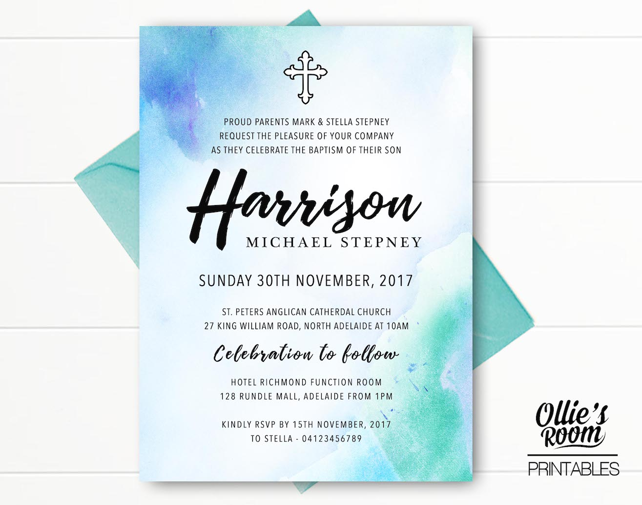 personalised baptism christening invitation baptismprintable