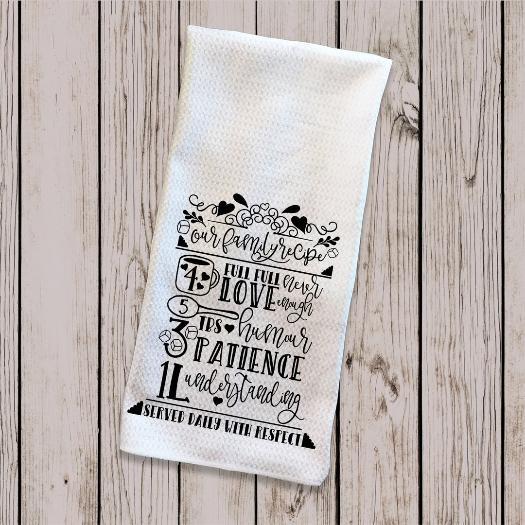 Personalised Tea Towel - Family Recipe