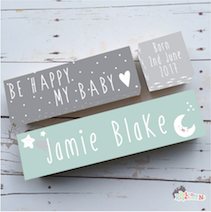 Personalised Nursery Quote Birth Blocks