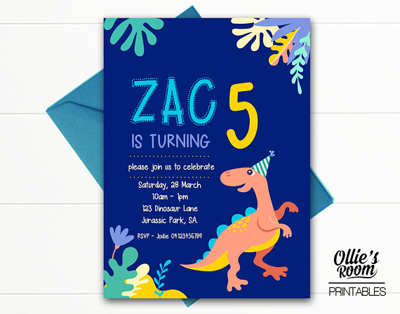 picture regarding Printable Dinosaur Birthday Invitations named Dinosaur Birthday Invitation - Dino POP