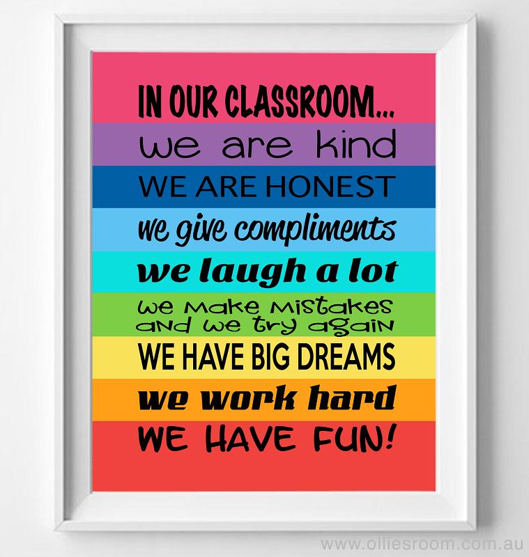 Music Teacher Classroom Decorations ~ Classroom rules mantra poster print