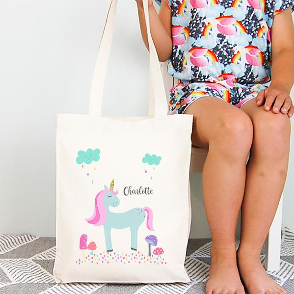 Personalised Unicorn Tote Bag
