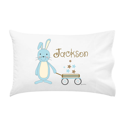 printed pillow cases. Baby Bunnies Boys Personalised Pillow Case Printed Cases D