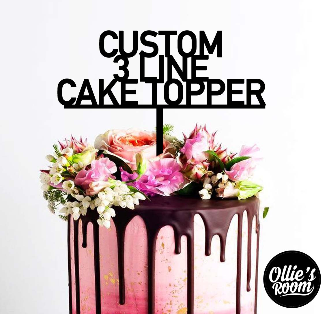 3 line  Special Occasion Cake Topper
