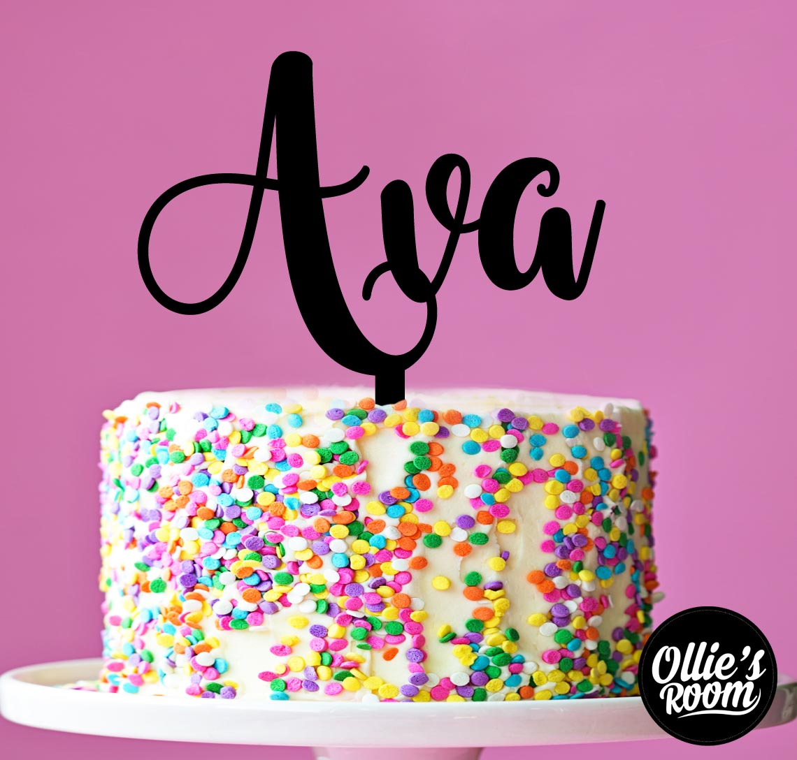 Single Name Acrylic Cake Topper