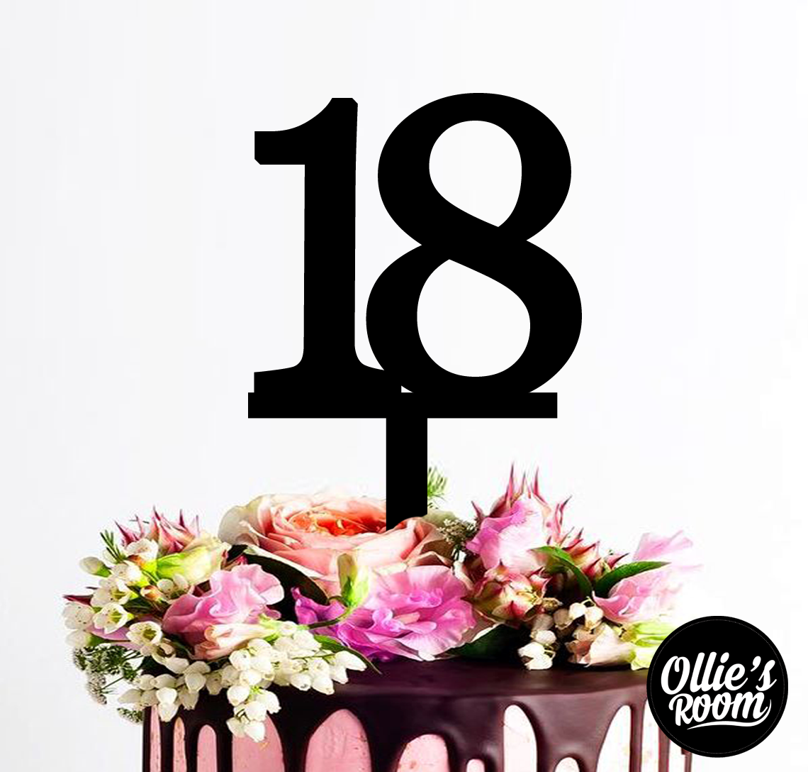 Personalised Number Custom Acrylic Cake Topper