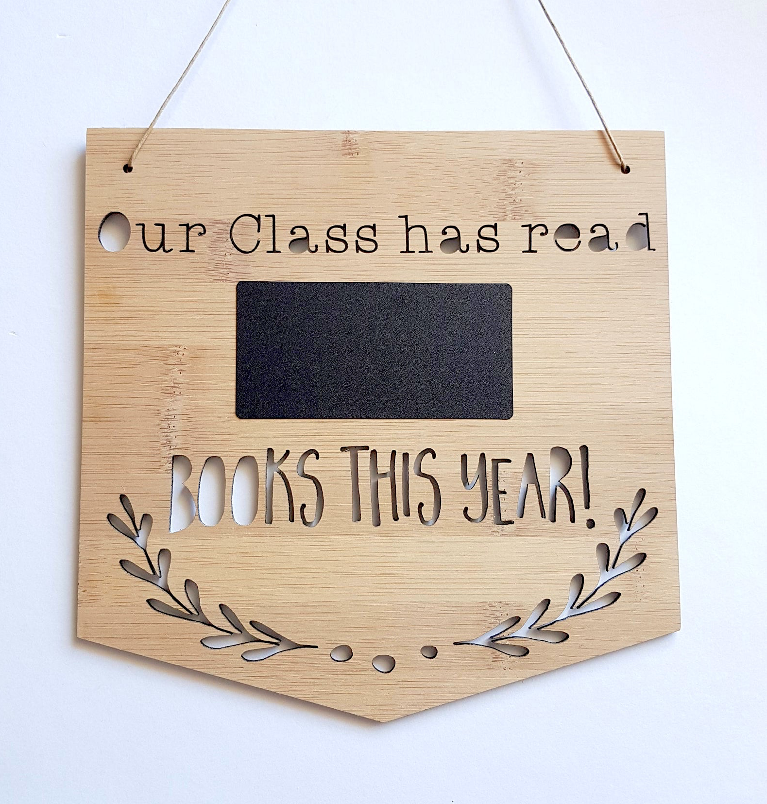 Class Book Tally Wooden Hanging