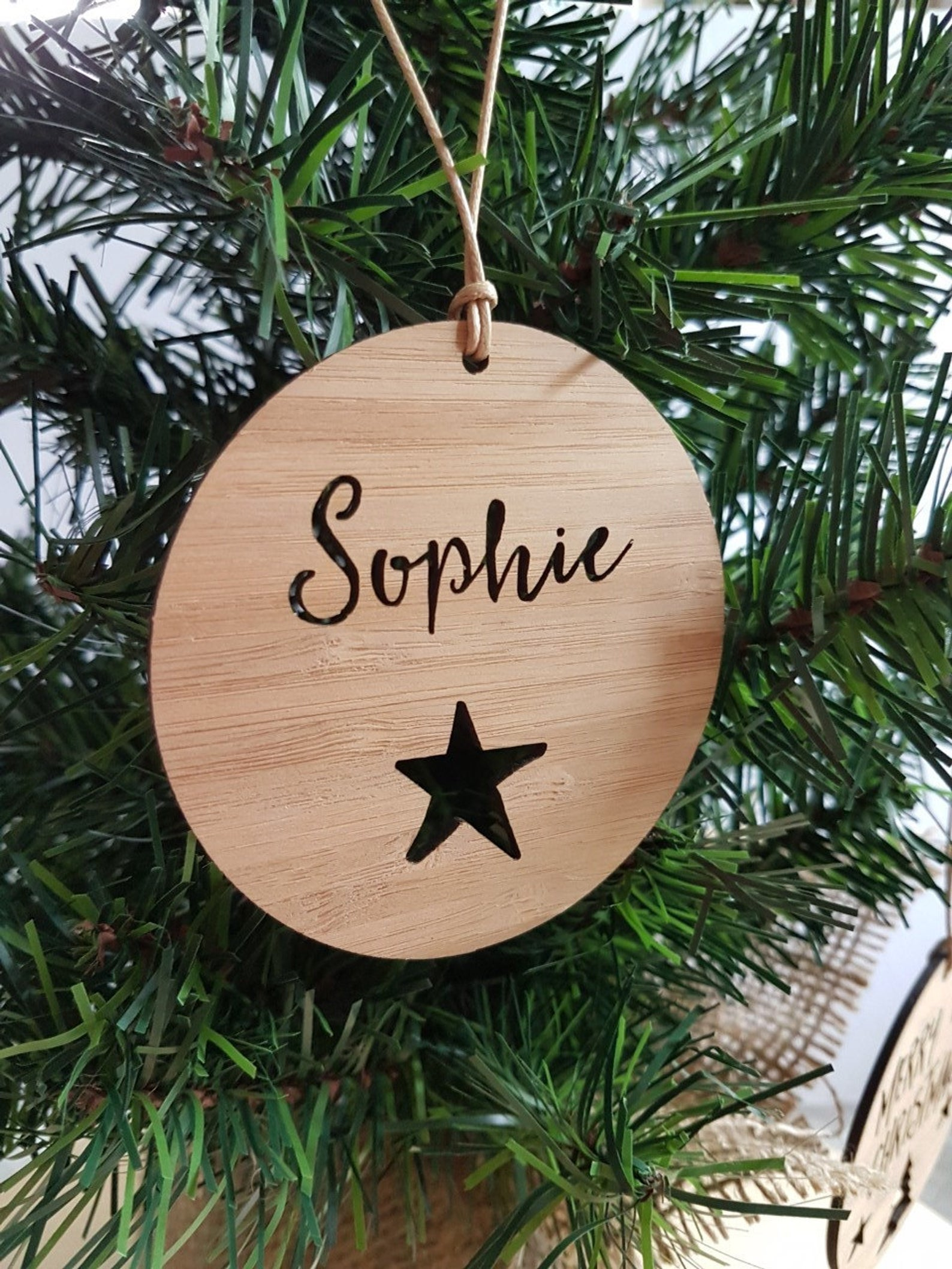 Star Bauble Personalised Christmas Ornament