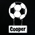 soccer name plaque