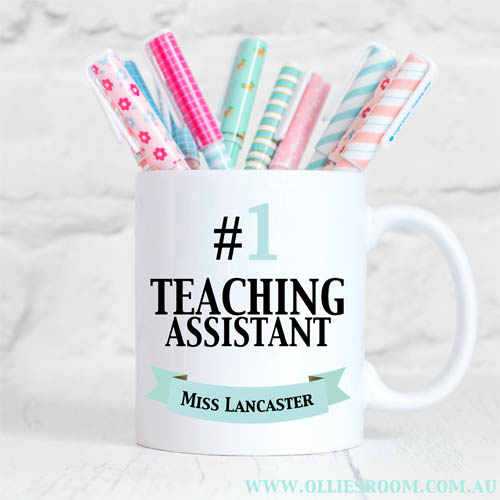Personalised Teacher Mug Number 1 Teaching Assistant