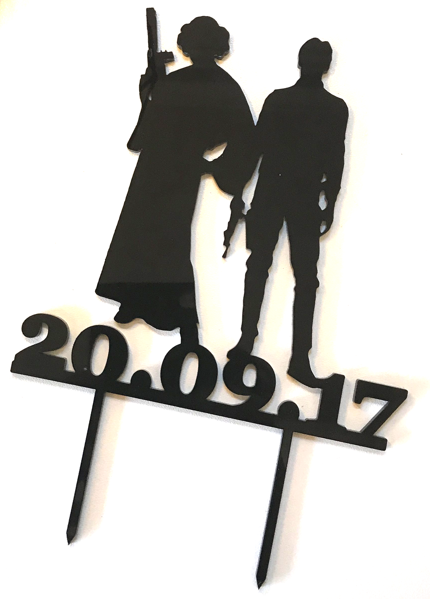 Wedding Cake Topper Star Wars Date Topper