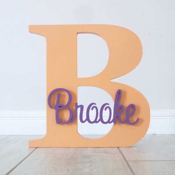 Wall Hanging Personalised Letter and Name - Apricot