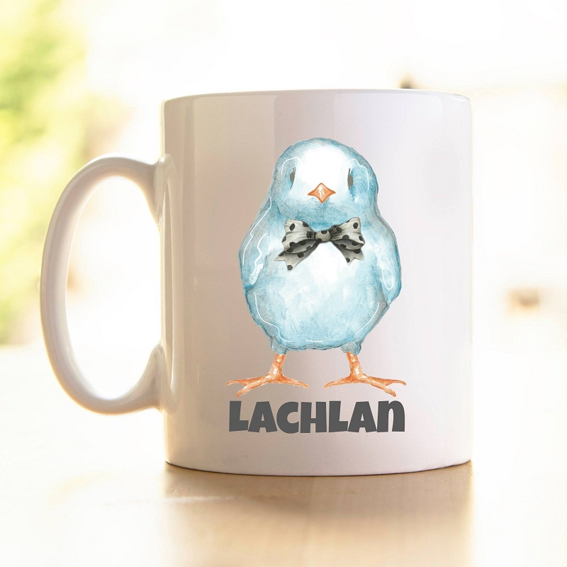 Personalised Easter Blue Chick Mug  (Polymer)