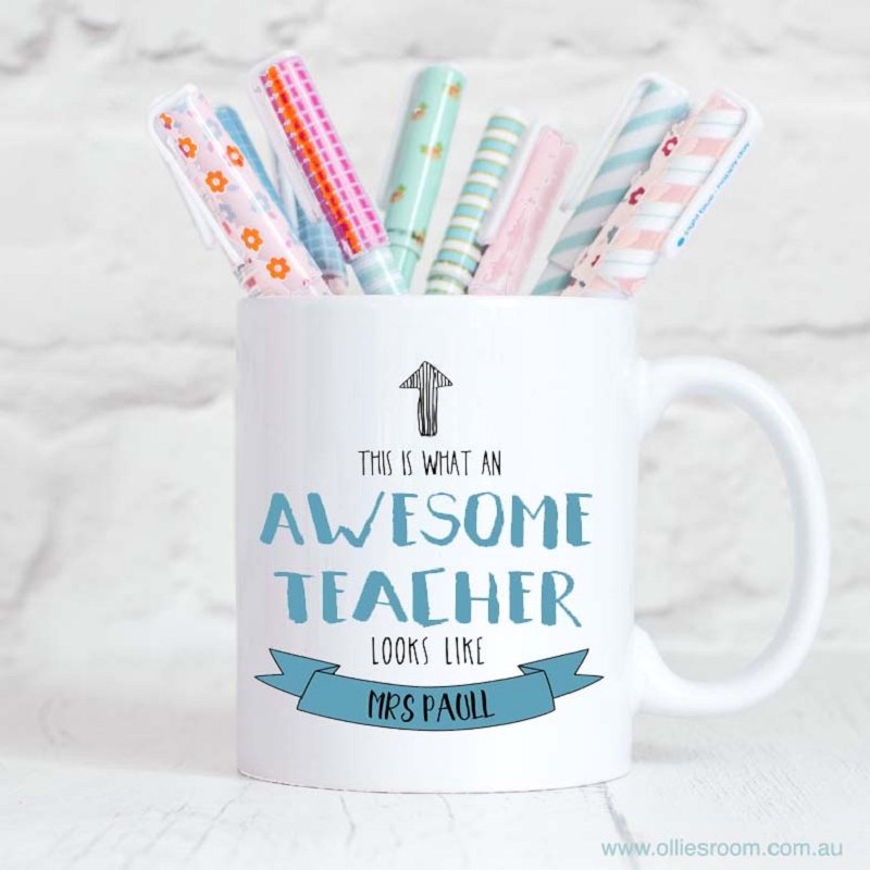Personalised Teacher Mug Awesome Teacher Principal