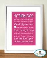 MOTHERHOOD Poster Print