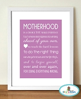 A3 MOTHERHOOD Poster Print PURPLE COLOUR
