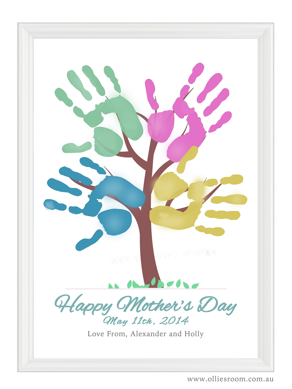 Tree Mother Poem Mother's Day Handprint Tree