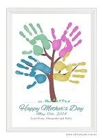 Mother's Day Handprint Tree (DIY)  PRINT YOURSELF