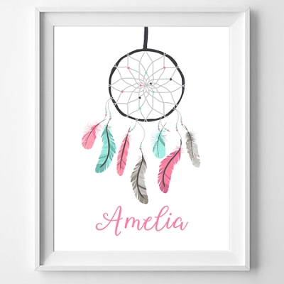 Personalised Dreamcatcher Print