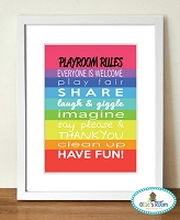 Playroom Rules Poster Prints