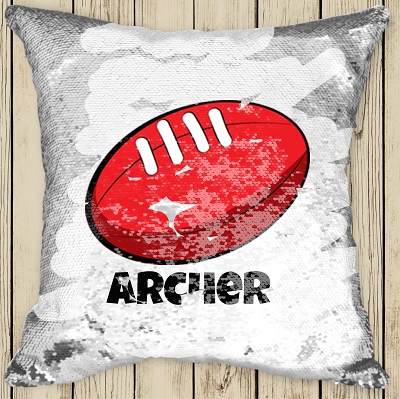 Personalised FOOTBALL Sequinned Cushion