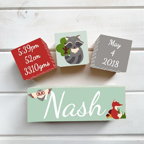 Woodland Birth Block Set
