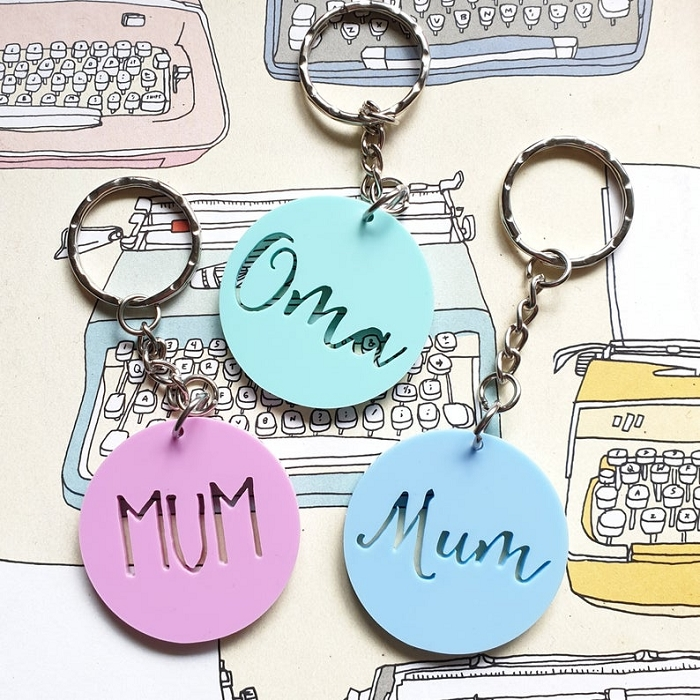 Personalised Mum, Nanna etc Key Tag