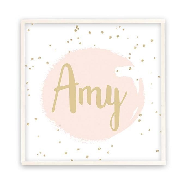 Personalised Gold Dots Wooden Name Plaque