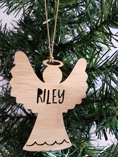 Angel Personalised Christmas Ornament