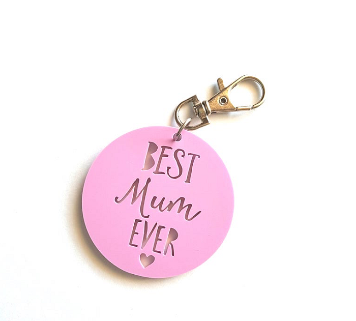 Best Mum Ever Personalised Key Tag