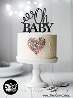 Baby Shower Oh Baby Cake Topper with Arrow