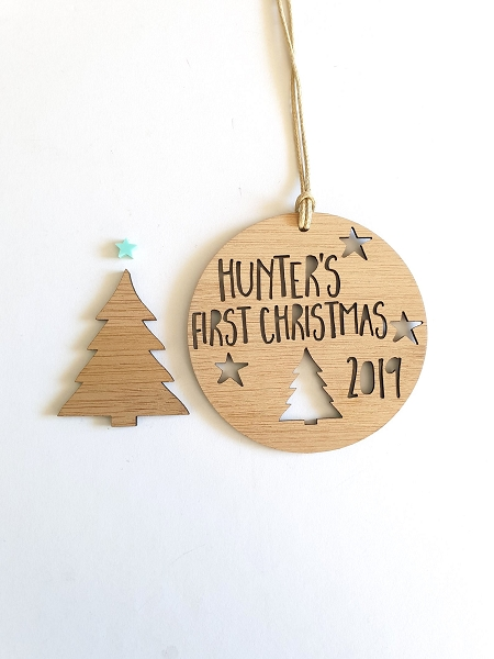 My First Christmas Personalised Christmas Ornament