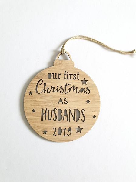 First Christmas Husbands Personalised Christmas Ornament