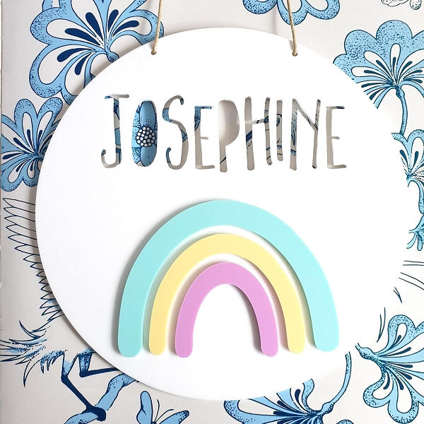 Rainbow Personalised Acrylic Name Sign