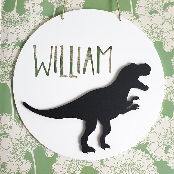 T-Rex Personalised Acrylic Name Sign