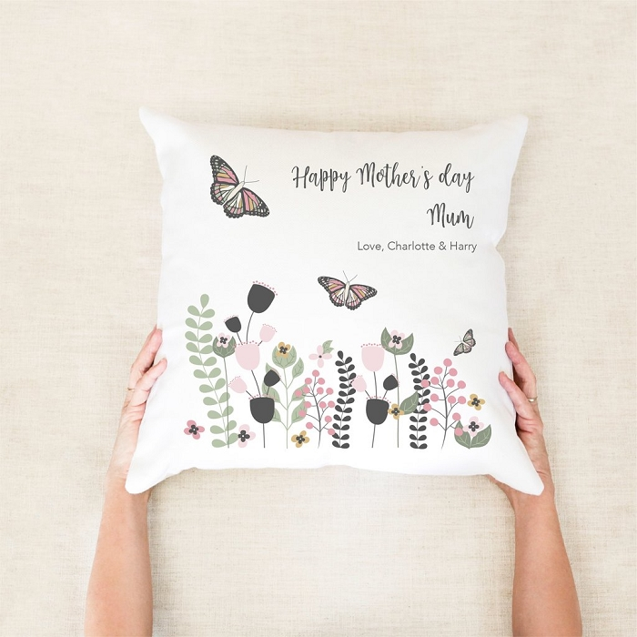 Butterfly Garden Personalised Mother's Day Cushion