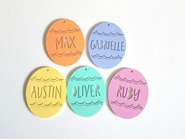 Personalised Easter Tags - Acrylic Eggs