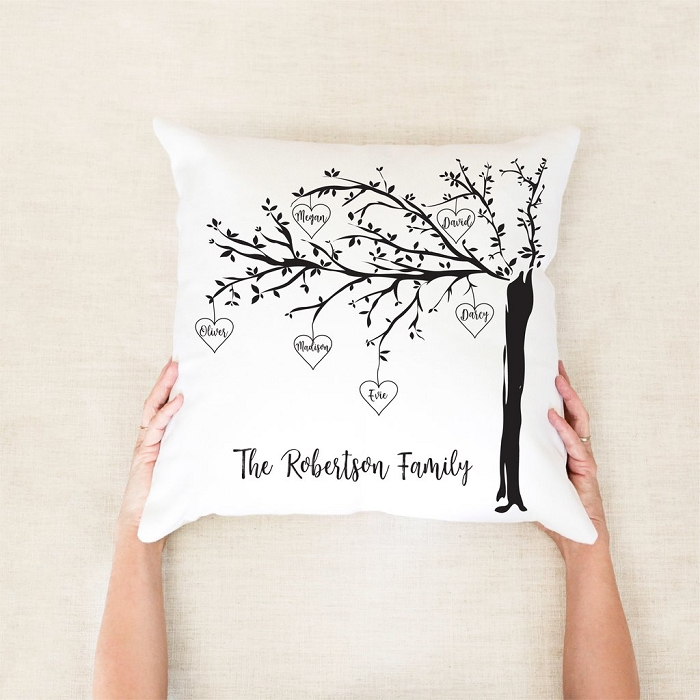 Family Tree Personalised Mother's Day Cushion