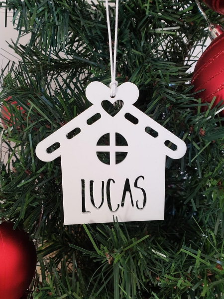 Personalised Gingerbread House Christmas Ornament Decoration