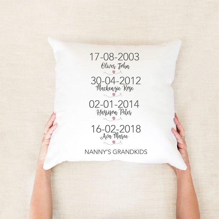 Grandkids Personalised Mother's Day Cushion
