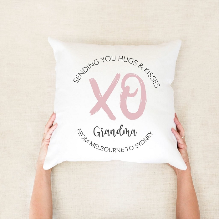 Hugs and Kisses Personalised Mother's Day Cushion