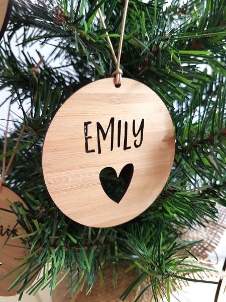 Heart Personalised Christmas Ornament