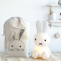Personalised Drawstring Storage Sack - BUNNY