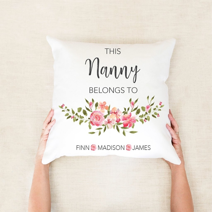 This Grandma Belongs To Personalised Mother's Day Cushion