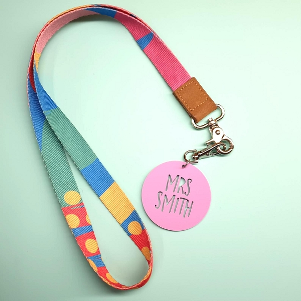 Personalised Teacher Key or Lanyard Tag