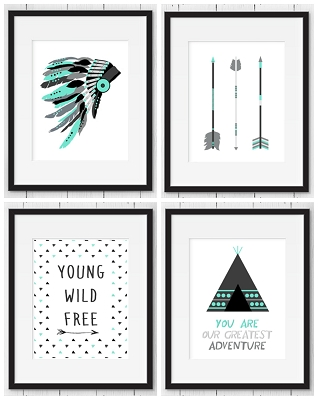 Print -  Tribal Print Set (4 prints)
