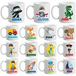 Boys Personalised Mug Designs