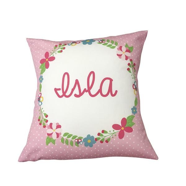 Floral Frame Personalised Custom Cushion